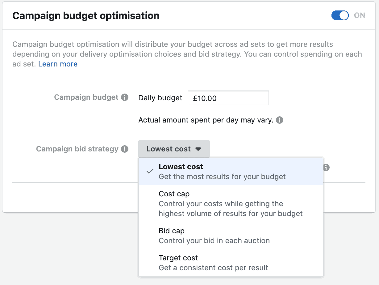Facebook for Estate Agents - Budget