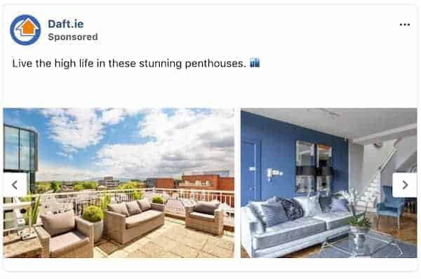 Facebook for Estate Agents - Carousel Ad