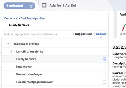 Facebook ads for Estate Agents - Targeting